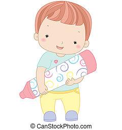 jongen, kleurpotlood, illustratie
