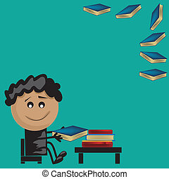 jongen lees, boekjes