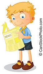 jongen lees, nieuws