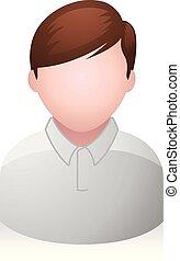 jongen, mensen, -, avatar, iconen