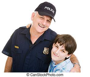 jongen, politieagent