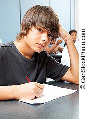 jongen, serieuze , school