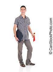 jongen, tiener, student
