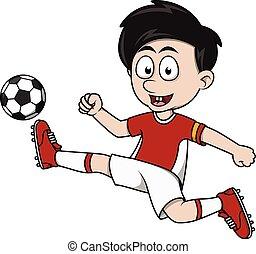 jongen, voetbal