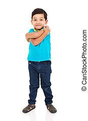 jongen, weinig; niet zo(veel), indiër, het poseren