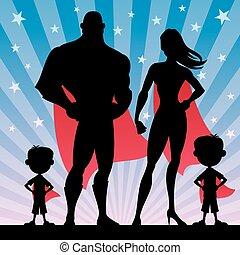 jongens, superhero, gezin