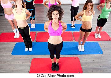 jongeren, in, de, fitnessclub
