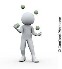 jongleur, személy, 3