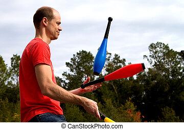 jonglieren, mann