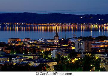 jonkoping, ∥において∥, night., スウェーデン