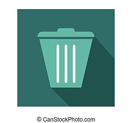 jonque, déchets ménagers, icône