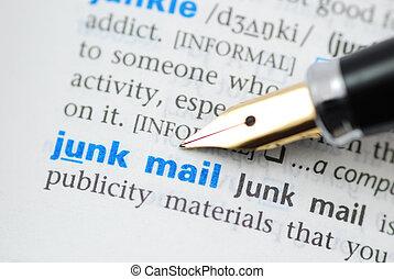 jonque, dictionnaire, -, série, courrier