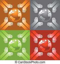 jord, hænder