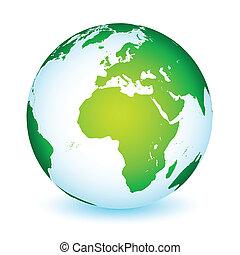 jord planet, globale, ikon, verden