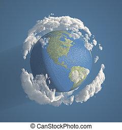 jord, skyer, 3