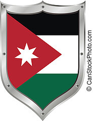 Jordan flag button.