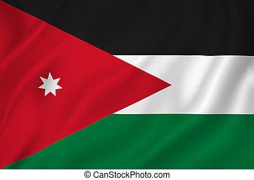 Jordan flag - Jordan national flag background texture.