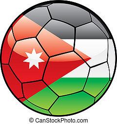 Jordan flag on soccer ball
