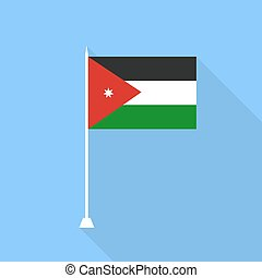 Jordan Flag. Vector illustration .