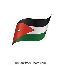 Jordan flag, vector illustration
