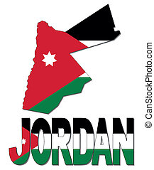 Jordan map flag and text illustration