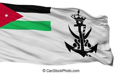 Jordan Naval Ensign Flag Isolated Seamless Loop - Naval...