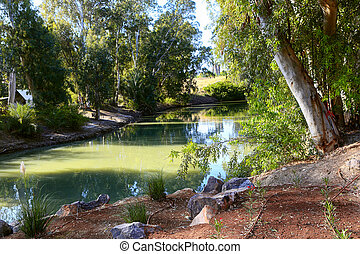 Jordan river the place of Jesus' baptism