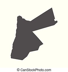 Jordan vector map. Black icon on white background.