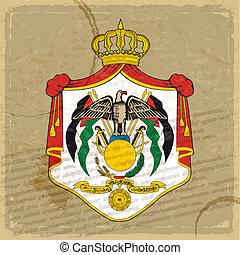 jordaniër, blad, vlag, papier, oud