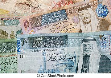 jordanier, dinar, sedlar