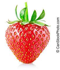 jordbær, blad, grønne, berry