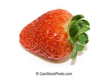 jordbær, closeup, æn