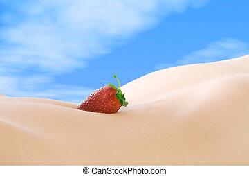 jordbær, nude
