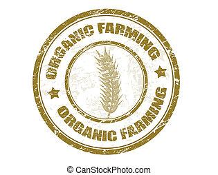 jordbruk, stämpel, organisk