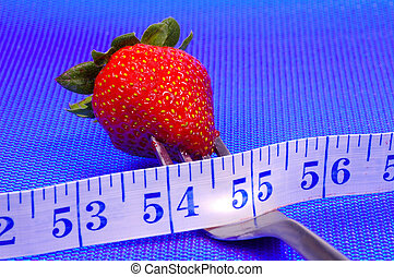 jordgubbe, på, a, gaffel