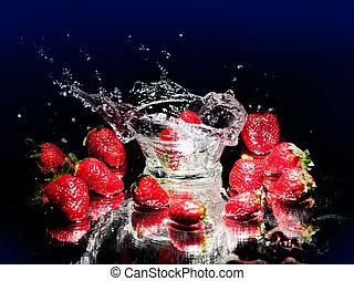 jordgubbe, plaska