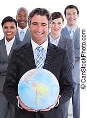 jordisk, affär, visande, ambitiös, lag, klot