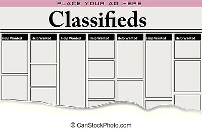 jornal, classifieds, ajuda quis