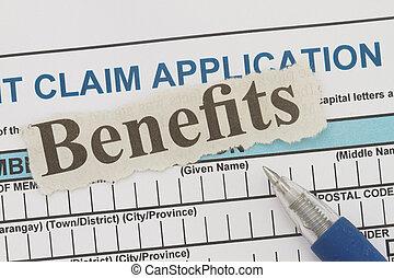 jornal, cutout, benefícios