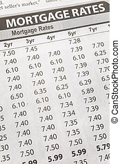 jornal, hipoteca, taxa