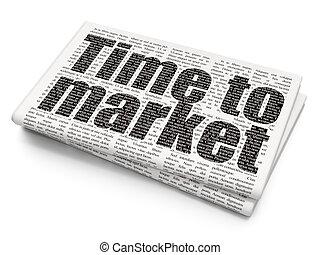jornal, mercado, fundo, concept:, tempo