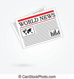 jornal, mundo, notícia