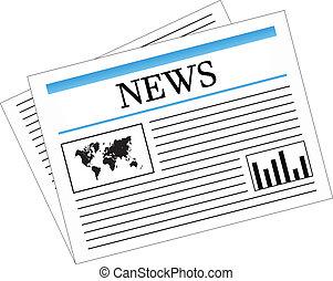 jornal, notícia, diariamente