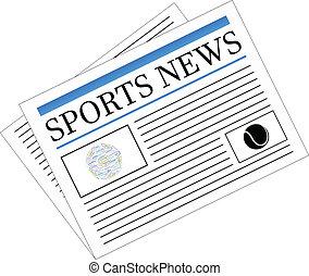 jornal, notícia, esportes