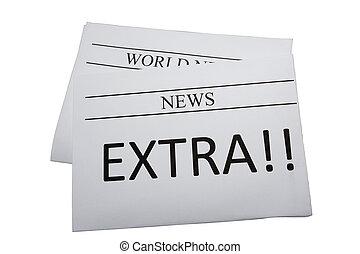 jornal, notícia, extra
