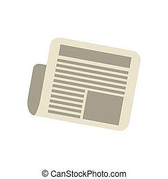 jornal, notícia, letra, diariamente