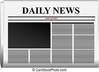 jornal, notícia, minnesota, diariamente