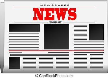 jornal, notícia, mississippi, estado