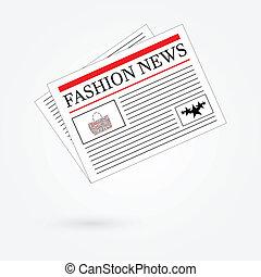 jornal, notícia, moda