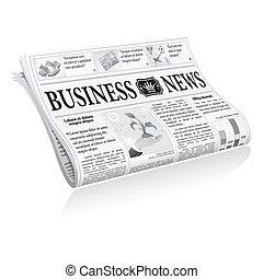 jornal, notícia, negócio